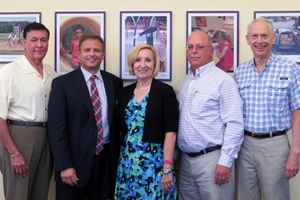 (left to right)<br/>Retired board members Charles Palladino, Kenn Picardi, Sharon Weaver, Scott Detar, Milt Martyny.