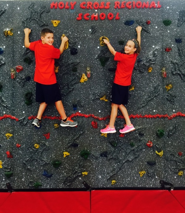 Holy Cross Regional Rock Wall