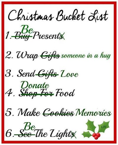 christmas bucket list
