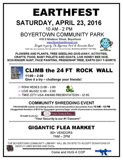 Boyertown Earth Day 2016