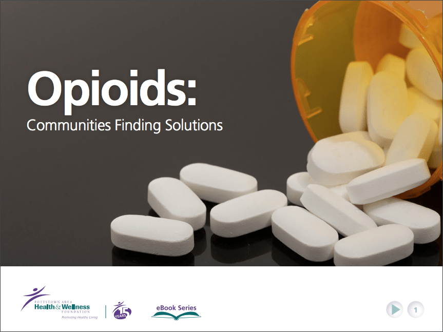 Opioids ebook cover with pills