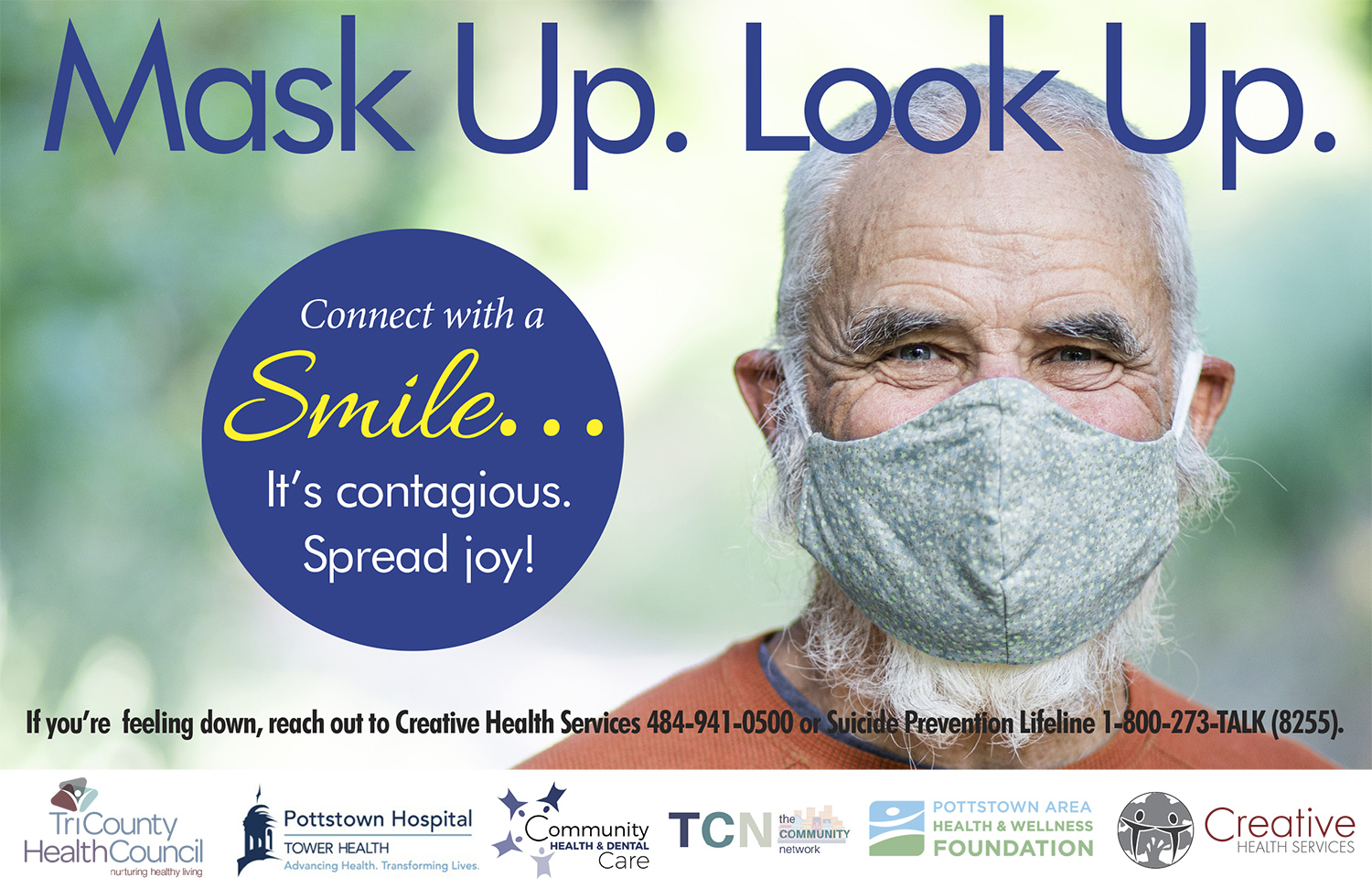 CONNECT WITH A SMILE CAMPAIGN Older Male